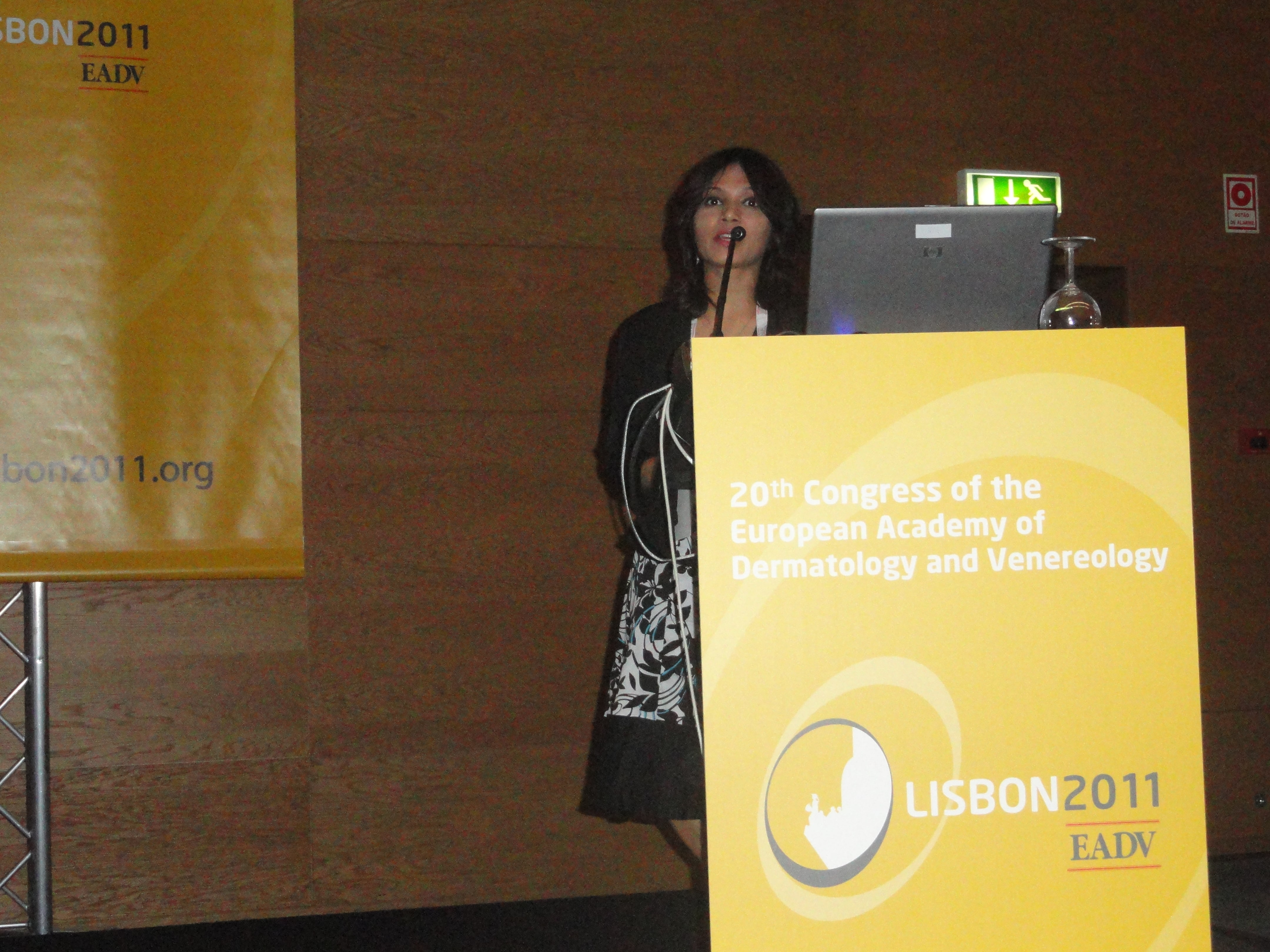 2011- Lisbon - 20th Conference ofCongress of European Academy of Dermatology and Venereology