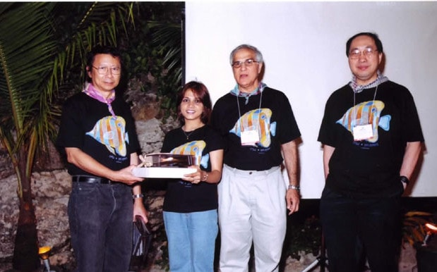 Dr. Jaishree receiving another award at the Asian Dermatologic Society meeting in 2007.