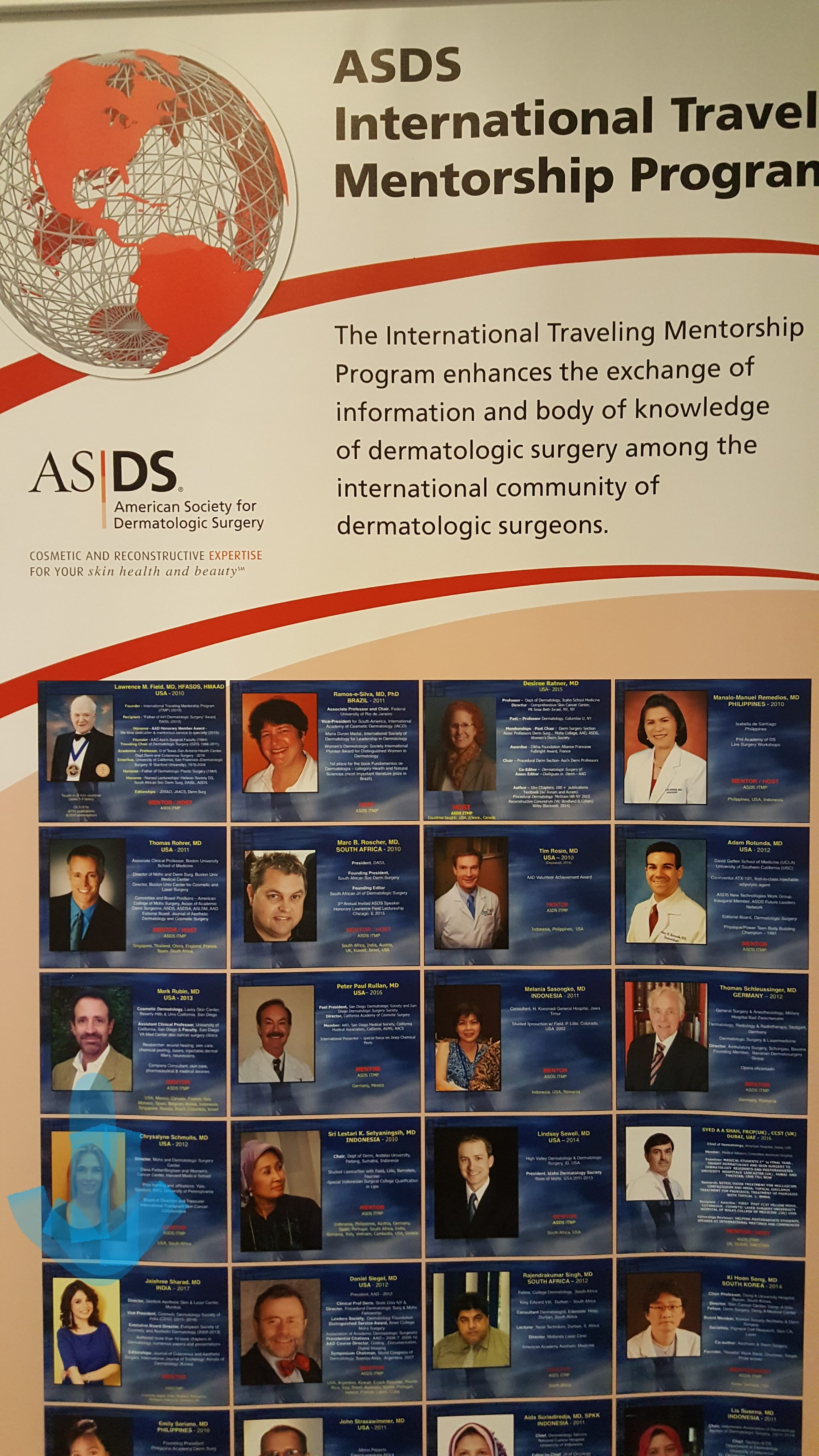 Dr. Jaishree selected as an International Mentor for The American Society of The Dermatologic Surgery.