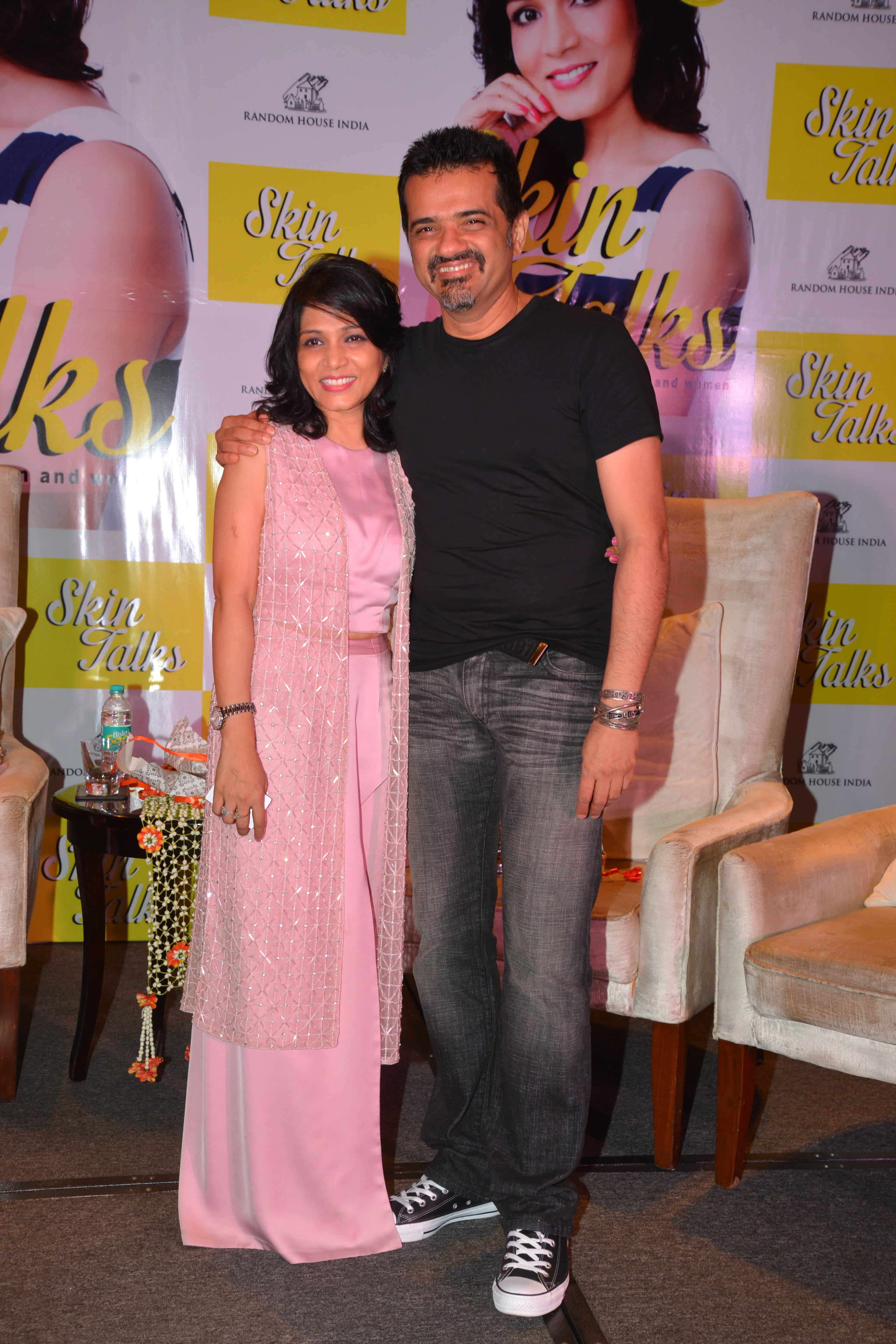 Dr. Jaishree with her good friend EhsaanNoorani at the book launch