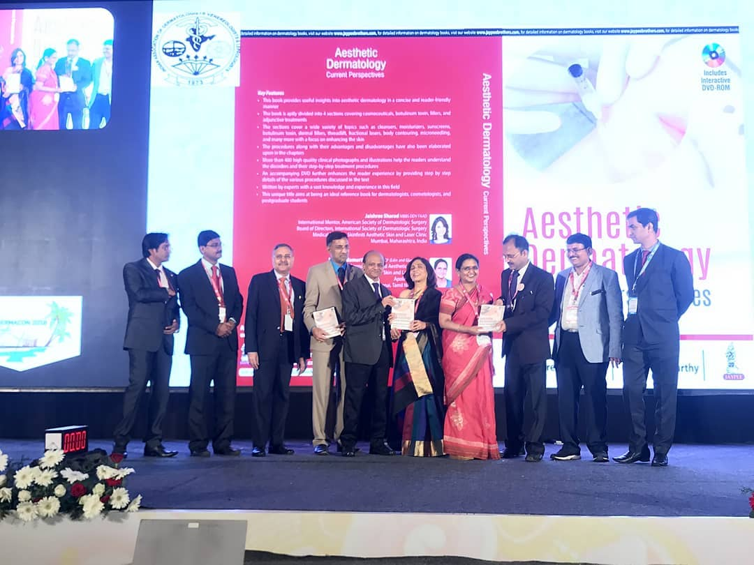 Editor-in-Chief - Dr. Jaishree Sharad @ the book launch of her text book - Aesthetic Dermatology Current Perspectives