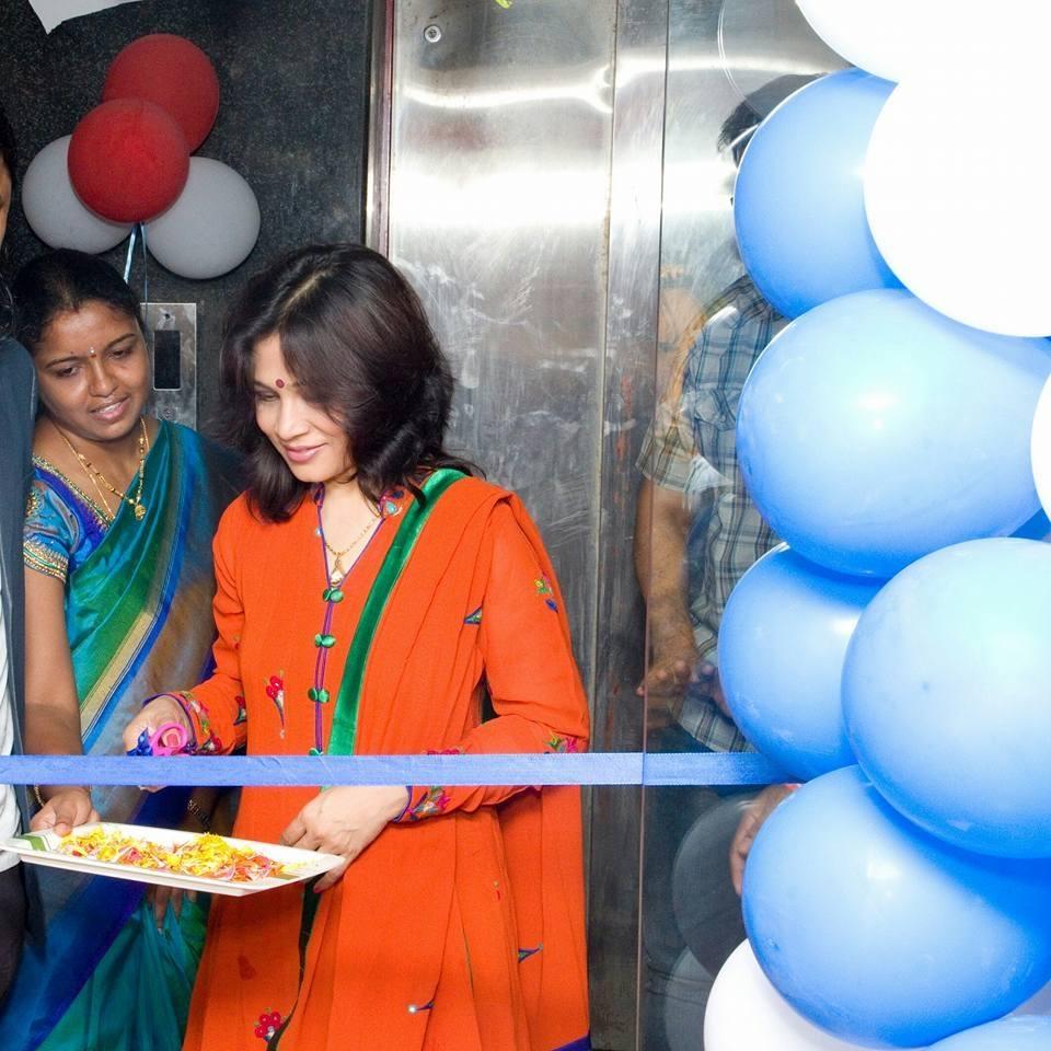 Inaugurating a skin clinic in Tirupati
