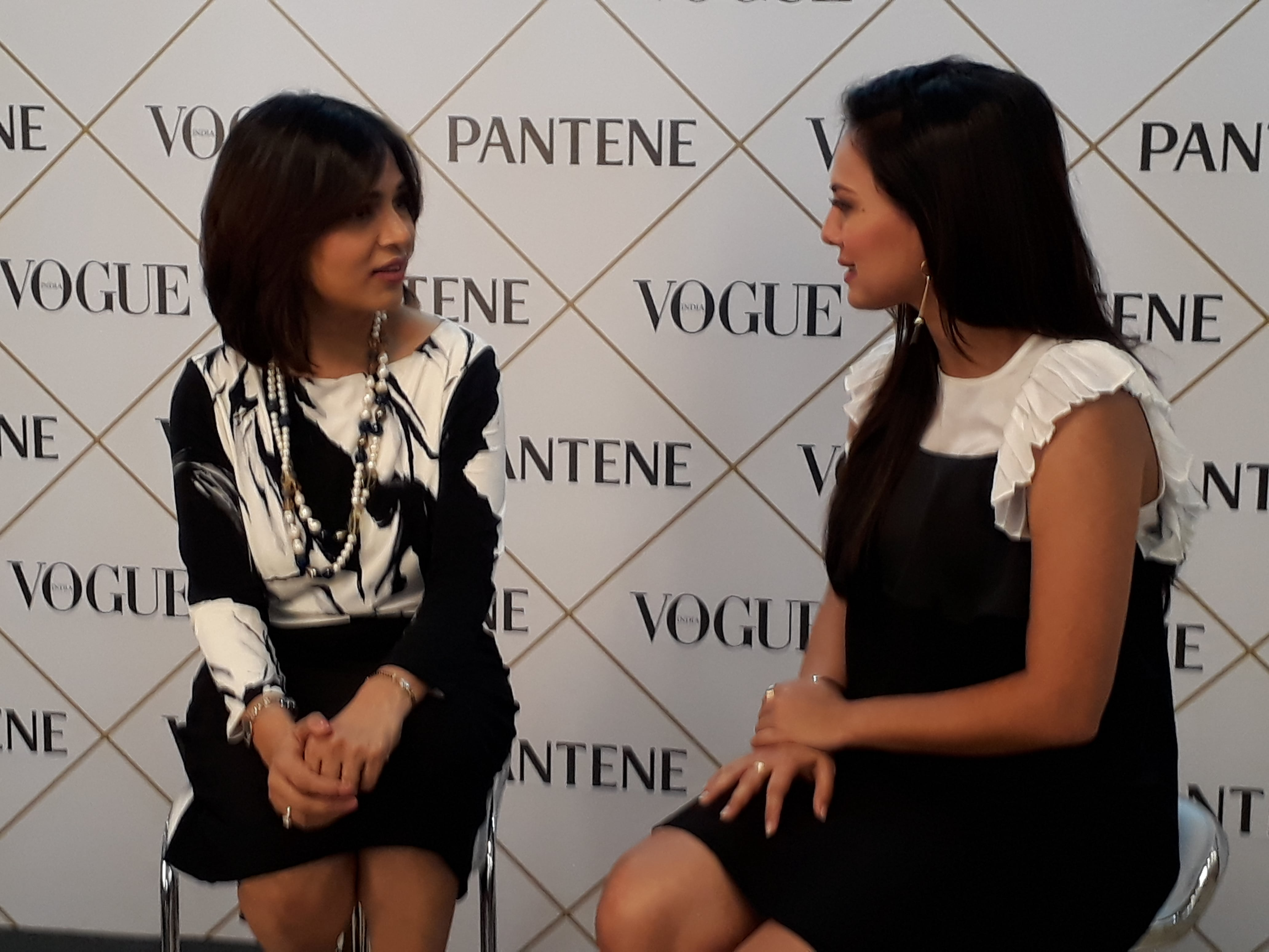 Judging the contestants for Pantene Pro-V contest for Vogue