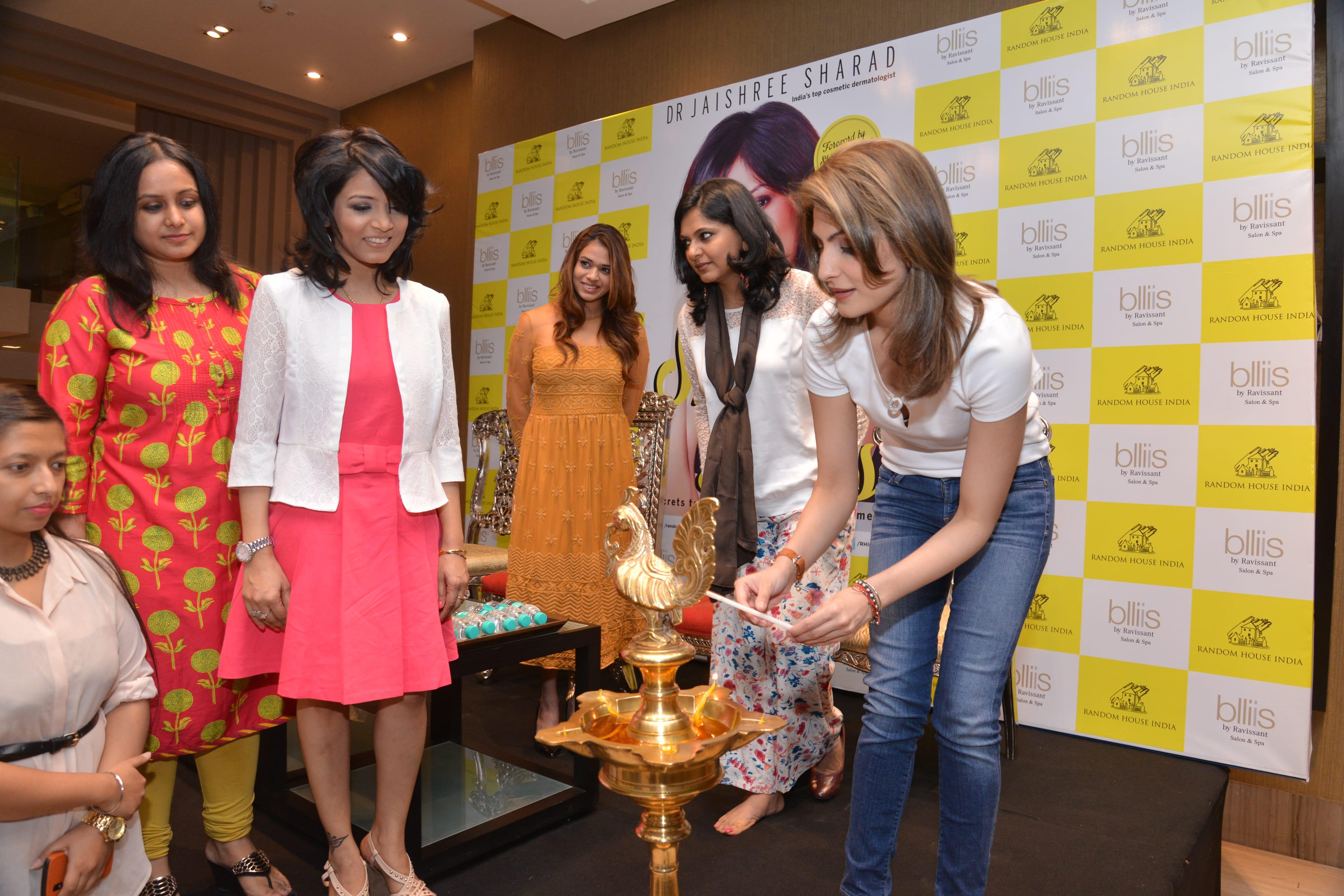 Riddhima Kapoor Sahni unveiling SkinTalks in Delhi
