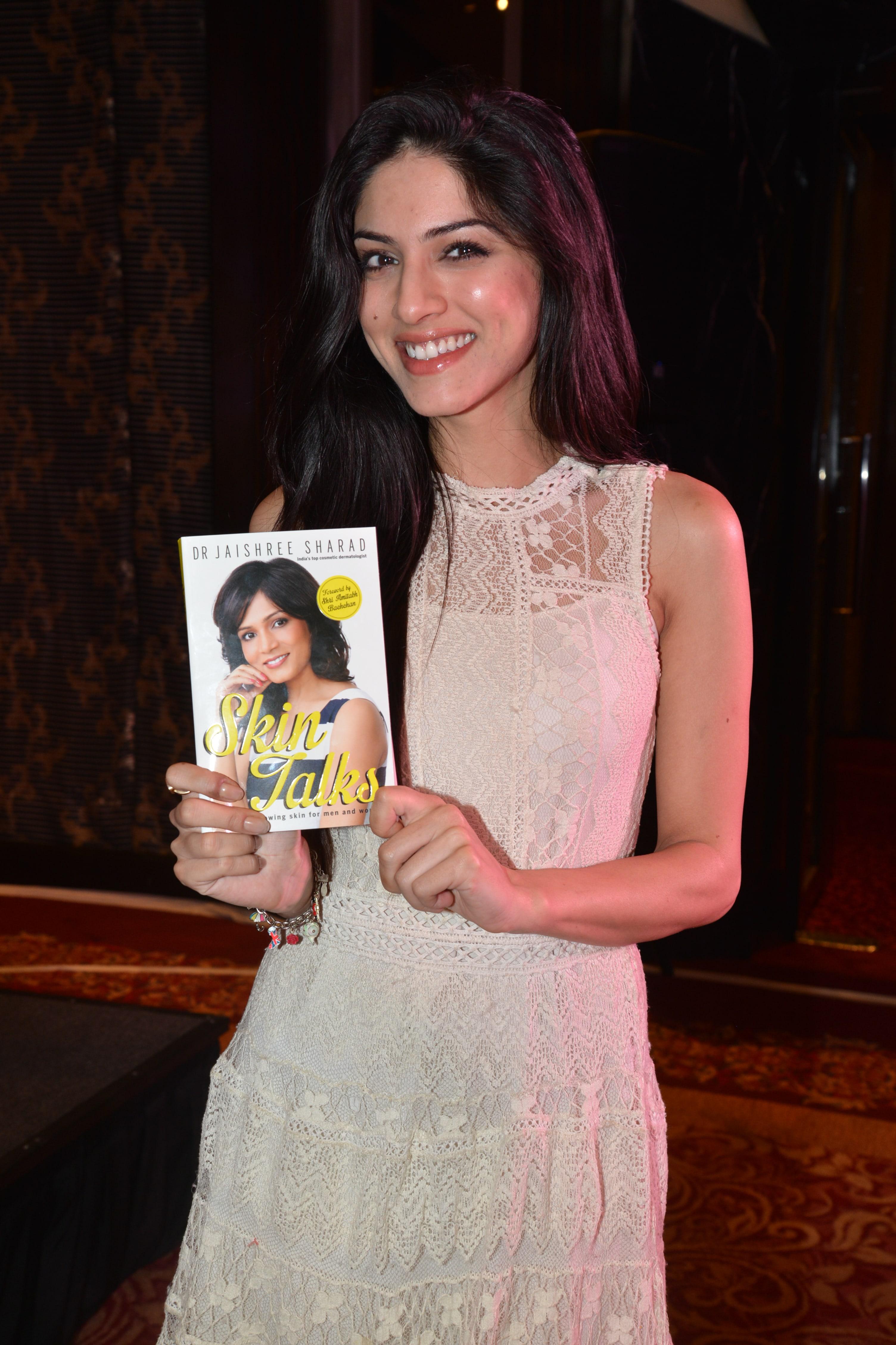 SapnaPabbi with her copy of Skin Talks