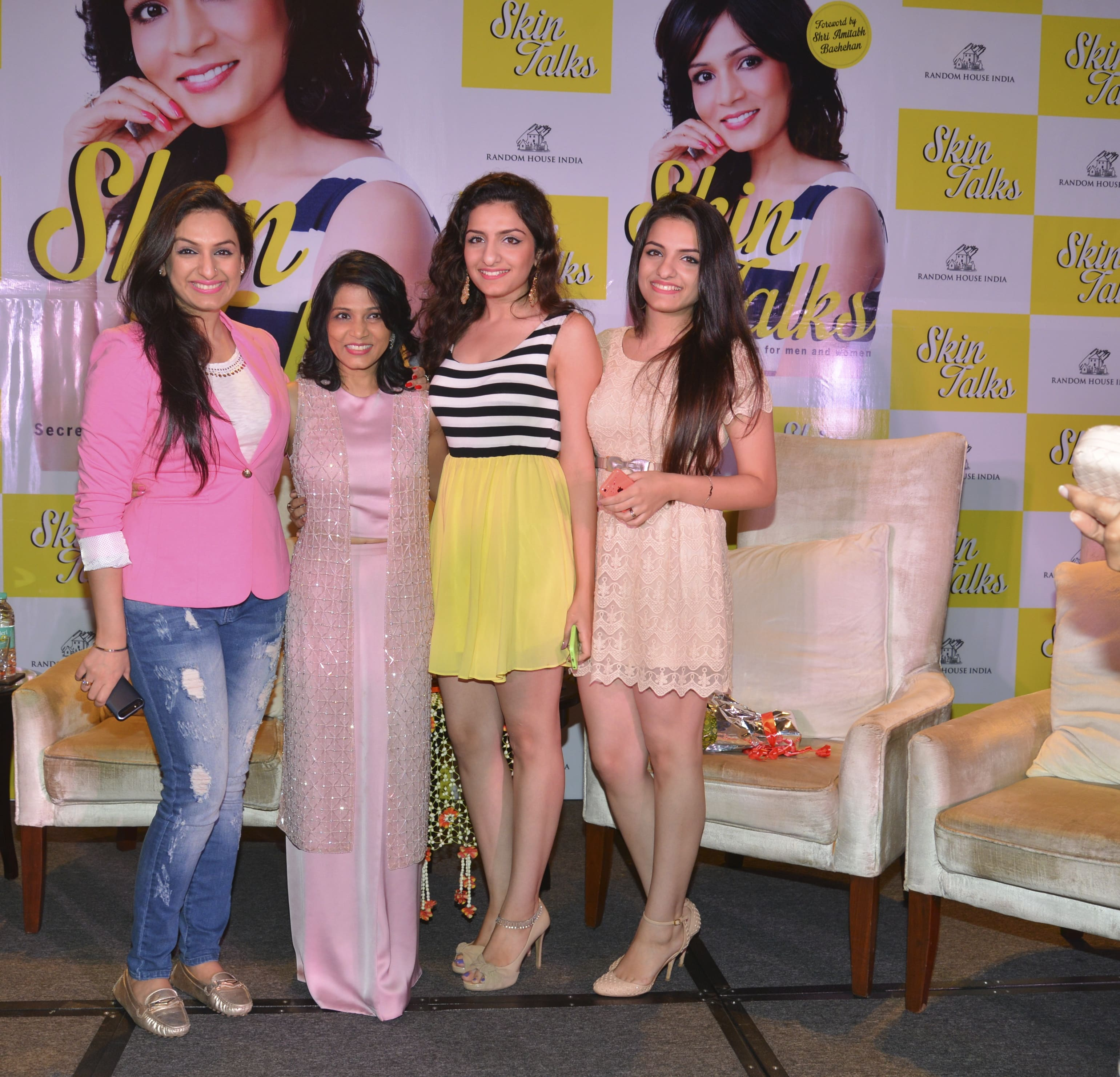 With Akriti, Sukriti and PrakritiKakar the lovely singers from Bollywood