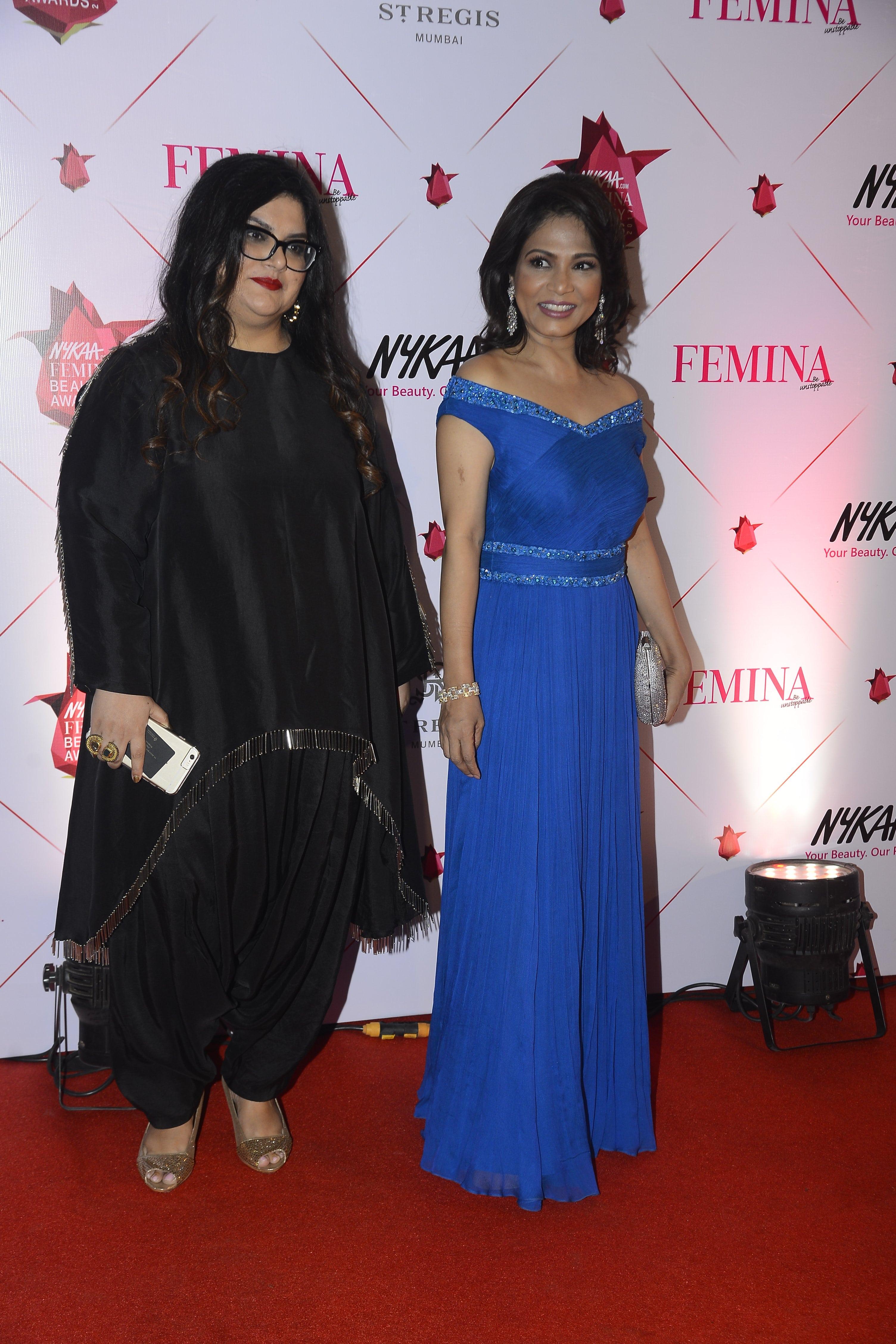 With Editor of Femina Taniya Chaitanya at Nykaa Femina Beauty Awards 2017
