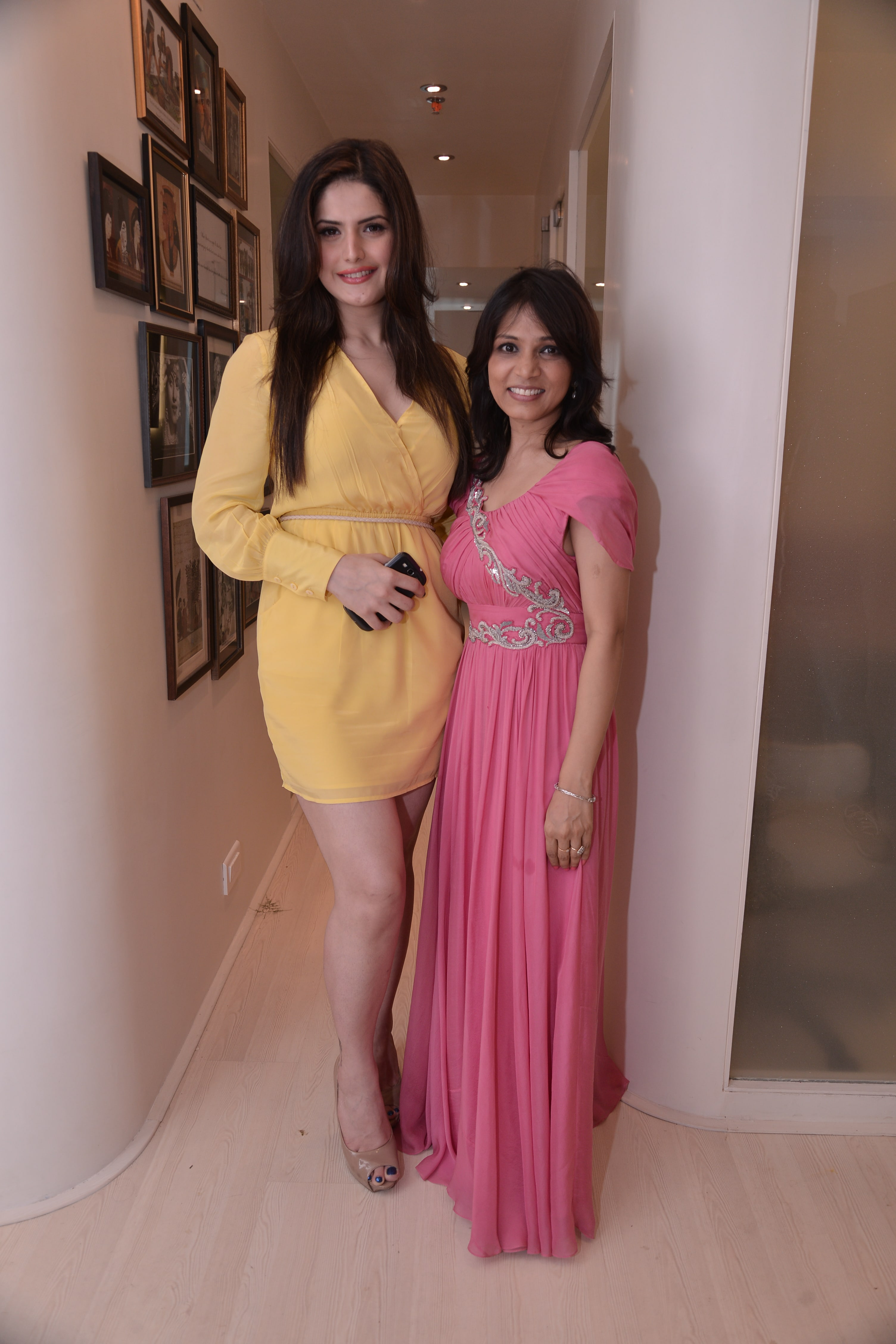 With Zareen Khan at Skinfiniti, Bandra
