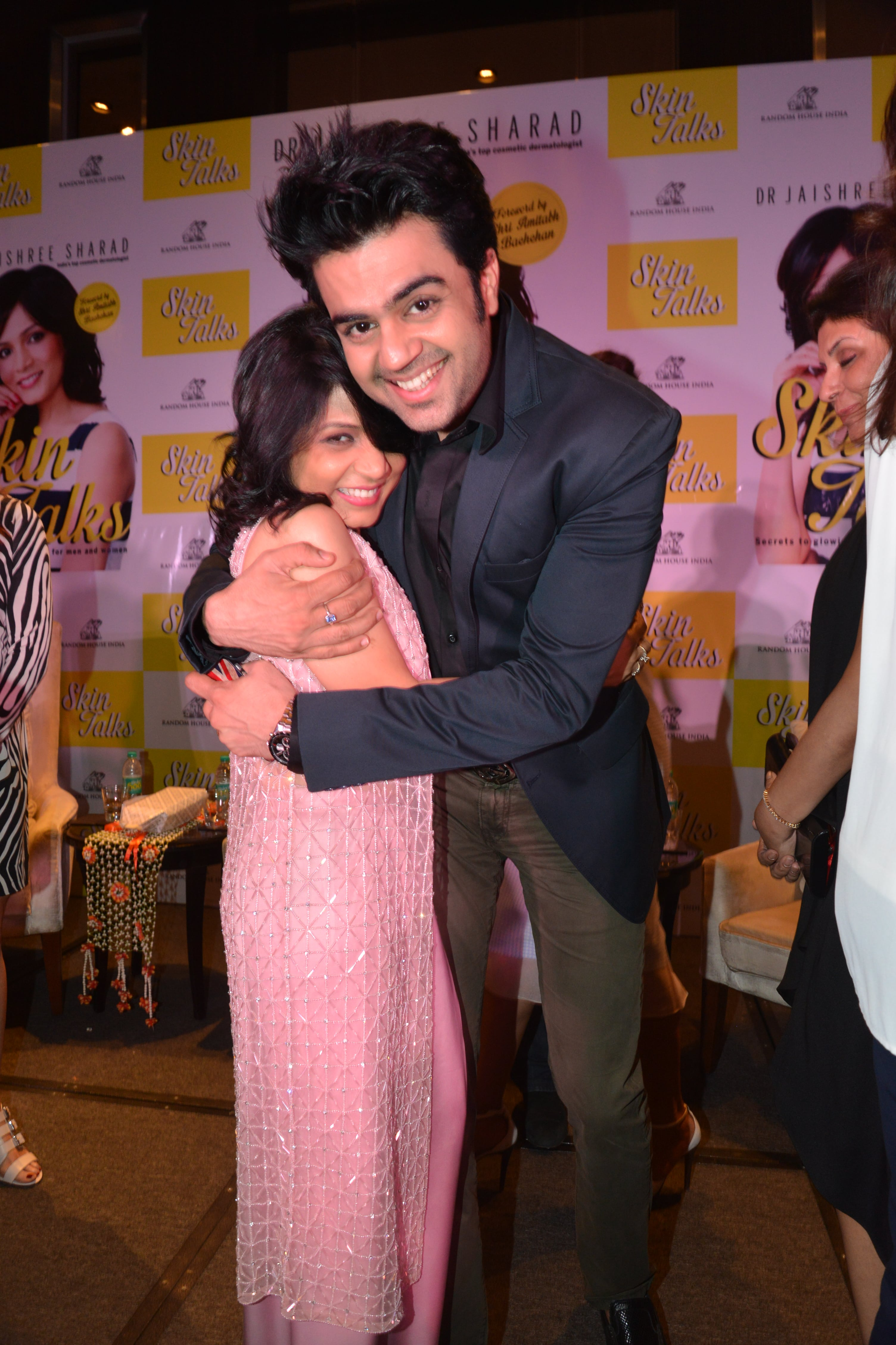 With a dear friend Manish Paul at the book launch
