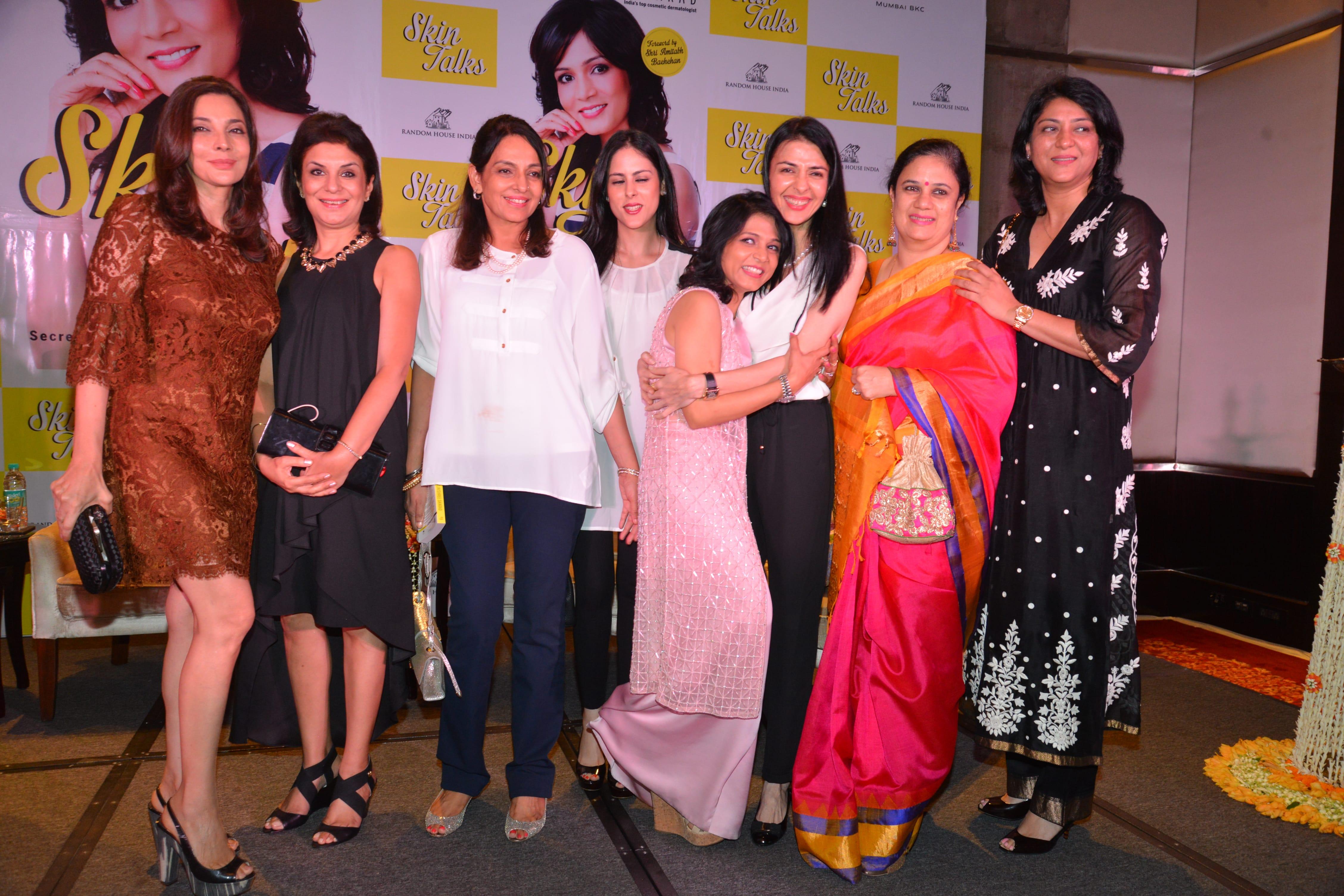 With dear friends Rita Dhody, Geeta Sehgal, Namrata Kumar and Priya Dutt at the book launch