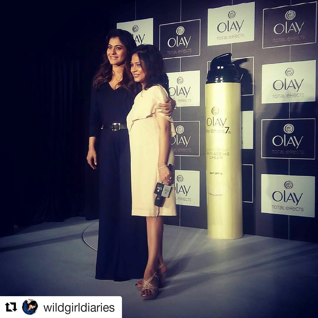 With the Kajol at the launch of #olaytotaleffects
